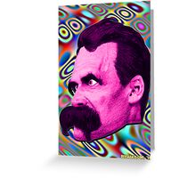 Nietzsche Mix 2 - by Rev. Shakes Greeting Card