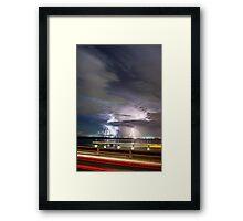 Elizabeth Bridge Storm Framed Print