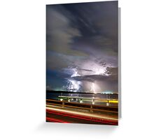 Elizabeth Bridge Storm Greeting Card