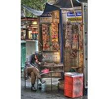 The Paper Seller, Collins Street, Melbourne Photographic Print