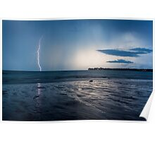 Lightning Over East Point Poster