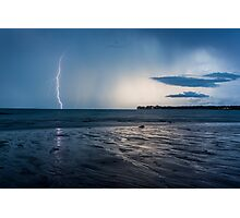Lightning Over East Point Photographic Print