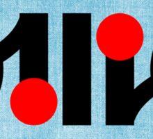 Ollie ambigram Sticker
