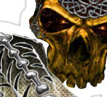 Celtic skull encrusted  Sticker