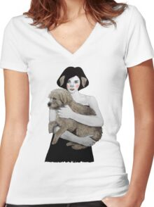 Rena Women's Fitted V-Neck T-Shirt