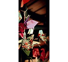Crane Origami Photographic Print