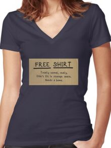 """Frances Ha """"FREE CHAIR"""" sign t-shirt parody Women's Fitted V-Neck T-Shirt"""