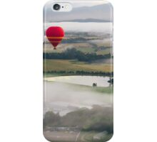 Hot Air Balloon At Sunrise, Yarra Valley, Australia iPhone Case/Skin