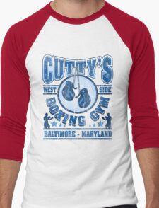 Cuttys Gym Distressed Men's Baseball ¾ T-Shirt
