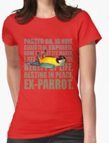 Ex Parrot Distressed Womens Fitted T-Shirt