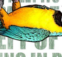 Ex Parrot Distressed Sticker