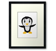 Sweet cute little Penguin child baby Framed Print
