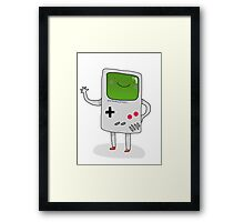 Cute Gameboy T-shirt Framed Print