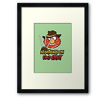 Nightmare on elmo street. Horror. Framed Print