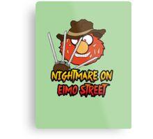 Nightmare on elmo street. Horror. Metal Print