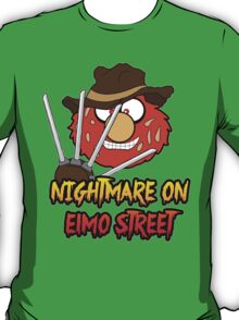 Nightmare on elmo street. Horror. T-Shirt