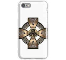 Gold Celtic Cross  iPhone Case/Skin