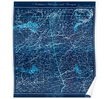 Civil War Maps 1202 Northern Alabama and Georgia Inverted Poster