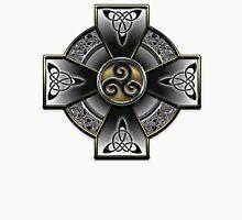 Black Celtic Cross Unisex T-Shirt