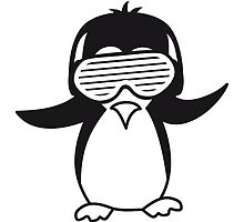 Party DJ party music funky Penguin by Style-O-Mat
