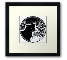 black Cat Look Framed Print