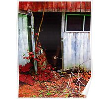 The Shed Out Back in Autumn Poster