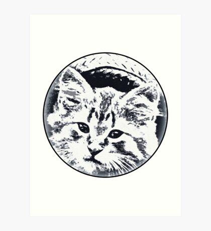 Straw Hat cat Art Print