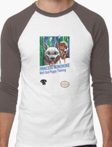 Princess Mononoke 8 Bit Style Men's Baseball ¾ T-Shirt