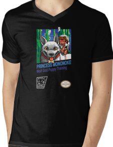 Princess Mononoke 8 Bit Style Mens V-Neck T-Shirt
