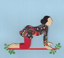 Shvanasana - DOG yoga posture by Marikohandemade