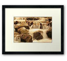 Warm waterfalls Framed Print