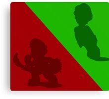 Mario and Luigi Canvas Print