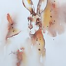 Hare-3 by Bev  Wells