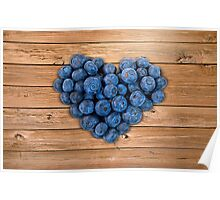 Blueberry Heart Poster