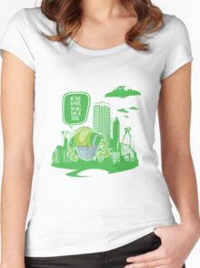 Green Future Women's Fitted Scoop T-Shirt