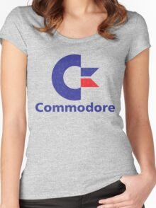 Commodore Logo Women's Fitted Scoop T-Shirt
