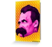 Nietzsche Multi-Heads 1 - by Rev. Shakes  Greeting Card