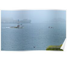 Trawler in the Fog Poster