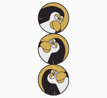 Funny such comic Penguin circle logo T-Shirt