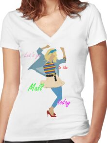 Let's go to the Mall ! :D Women's Fitted V-Neck T-Shirt