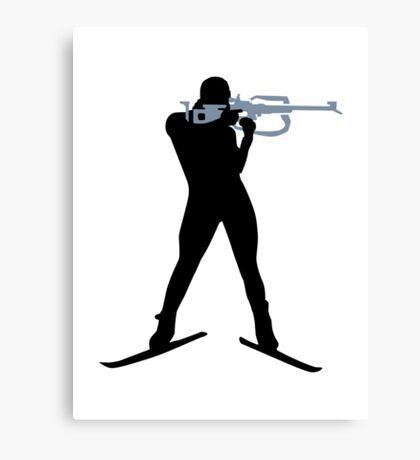 Biathlon sports Canvas Print