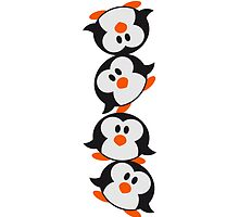 Funny Penguin Tower pattern sweet cute by Style-O-Mat