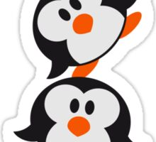 Funny Penguin Tower pattern sweet cute Sticker