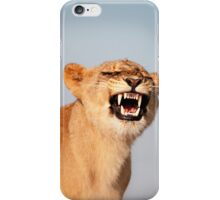 Lion Showing Teeth iPhone Case/Skin