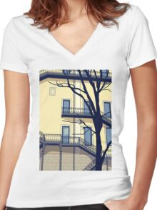 Chiado #1 Women's Fitted V-Neck T-Shirt