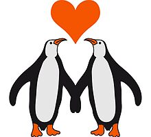 Love couple heart love penguins by Style-O-Mat