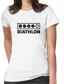 Biathlon target Womens Fitted T-Shirt