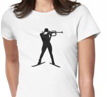 Biathlon winter sports Womens Fitted T-Shirt