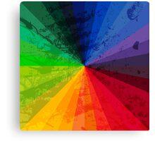 Rainbow Graphic Design Color Wheel Canvas Print