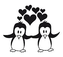 Love couple love penguins by Style-O-Mat